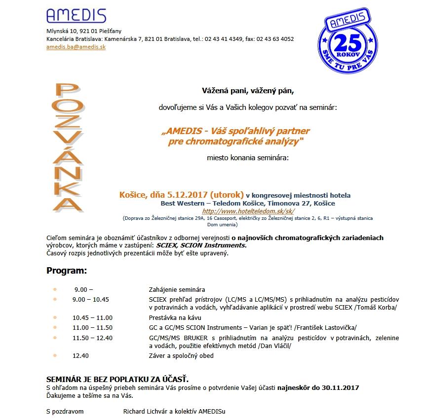 AMEDIS - Váš spoľahlivý partner pre chromatografické analýzy